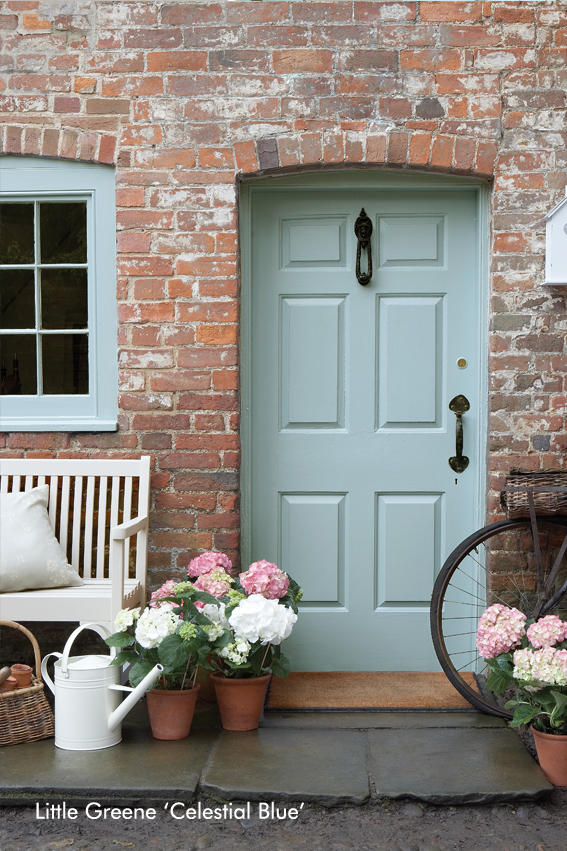 Little Greene Front Door – Celestial Blue