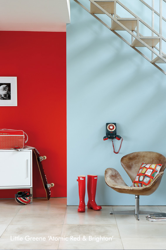 Little Greene Hallway – Atomic Red And Brighton