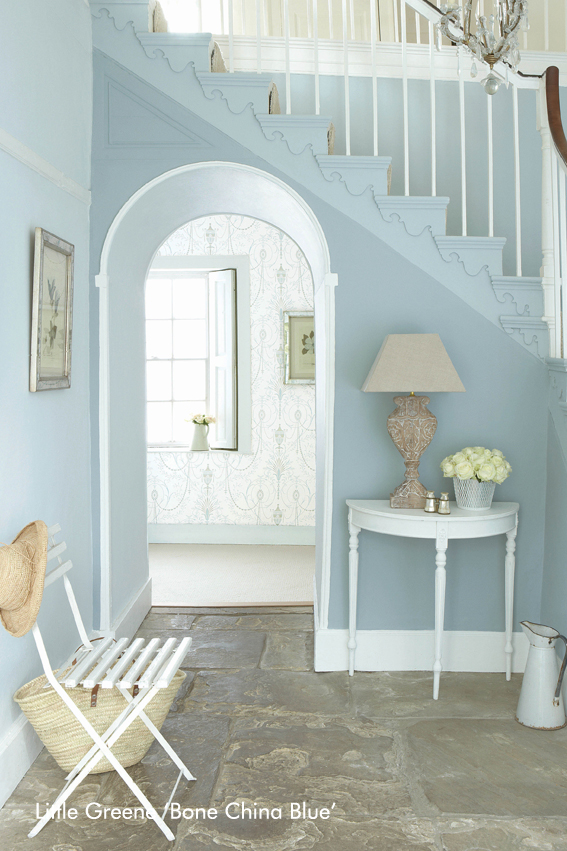 Little Greene Hallway – Bone China Blue