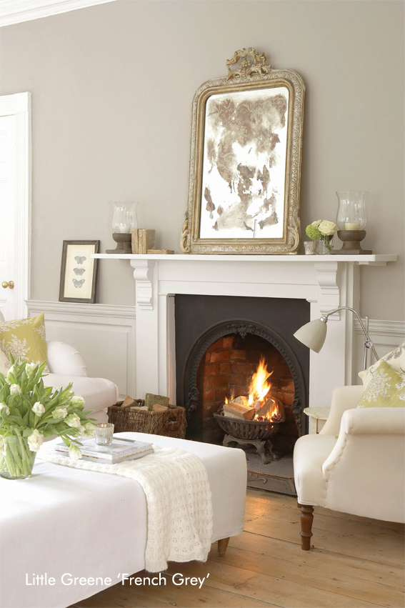 Little Greene Living Room – French Grey