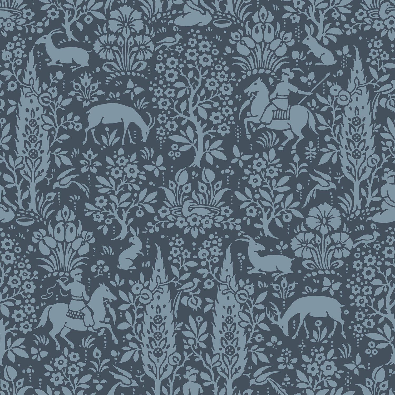 M1169 Woodland Dark Blue Wallpaper SW