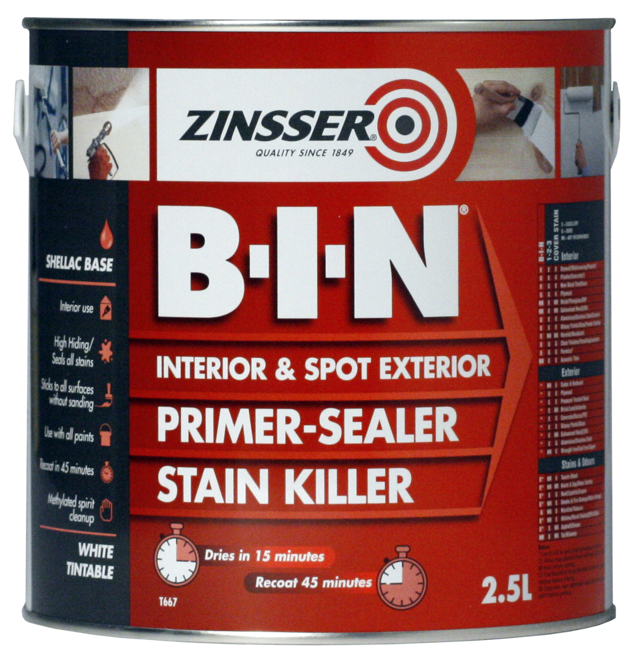 ZN610160 Zinsser BIN 2.5L
