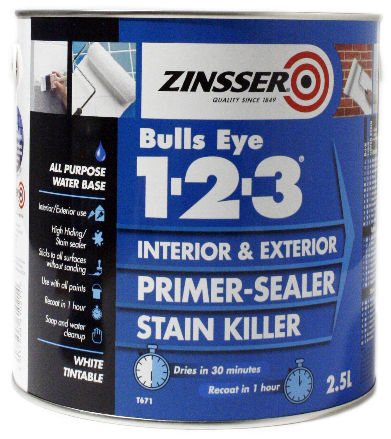 ZN610214 Zinsser Bulls Eye 2.5L