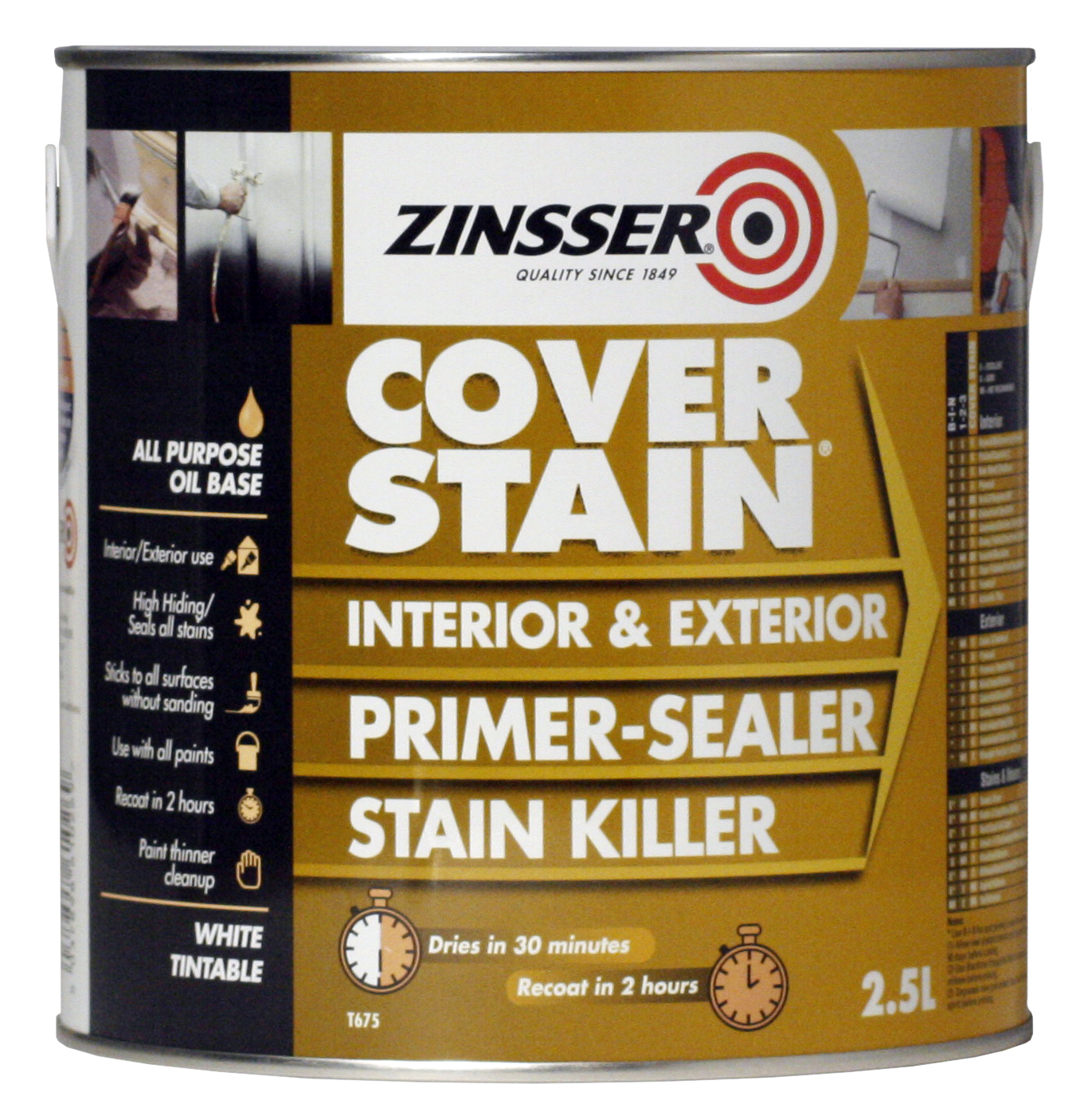 ZN610269 Zinsser Cover Stain 2.5L